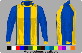 striped football kit