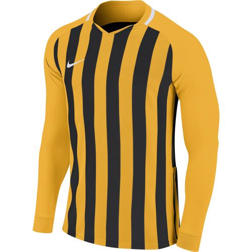 Nike Striped Division III Football Shirts  Nike Striped Division III Football  Shirt University Gold Black Long Sleeve 1f37a8808