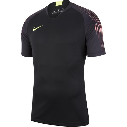 7ce63a6c5537 Nike Goalkeeper Kits  Nike Gardien Jersey Black Black (Volt) Short Sleeve