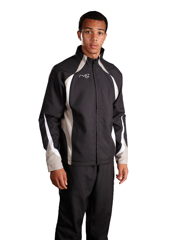 Performance Tracksuit Top Black/Silver/White