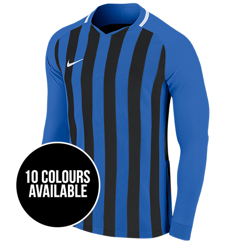 Nike Striped Division III Football Shirt Long Sleeve