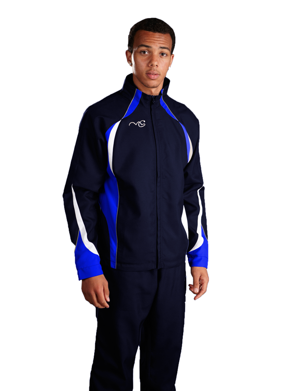 Performance Tracksuit Top Navy/Royal/White
