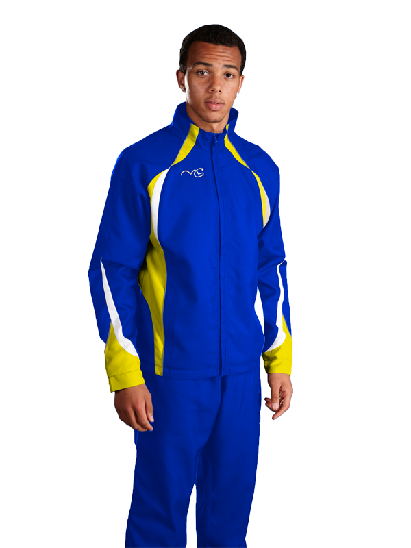 Performance Tracksuit Top Royal/Yellow/White